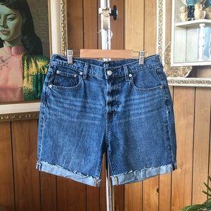 GAP 1969 High Waisted Denim Cut-Off Jean Shorts